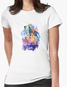 SUPER FANDOM COLLAGE Womens Fitted T-Shirt