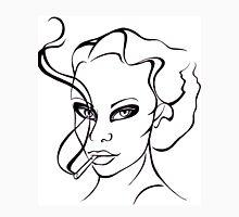 Woman with cigarette. Unisex T-Shirt