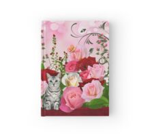 Cat in a Rose Garden Hardcover Journal