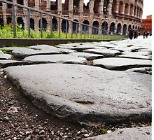Stepping towards the Colosseum by Cristy Hernandez