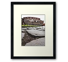 Stepping towards the Colosseum Framed Print