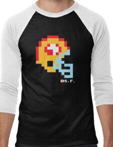 Tecmo Bowl -San Francisco - 8-bit - Mini Helmet shirt Men's Baseball ¾ T-Shirt