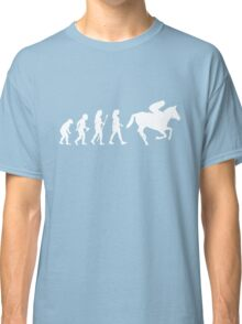 Funny Women's Horse Racing Jockey Evolution Silhouette Classic T-Shirt