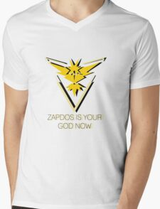 Team Instinct - Zapdos Is Your God Mens V-Neck T-Shirt