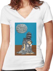 Schleprock Women's Fitted V-Neck T-Shirt