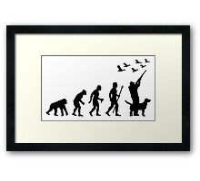 Duck Hunting Evolution Of Man Funny Silhouette Framed Print