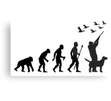 Duck Hunting Evolution Of Man Funny Silhouette Metal Print
