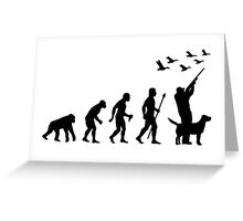 Duck Hunting Evolution Of Man Funny Silhouette Greeting Card