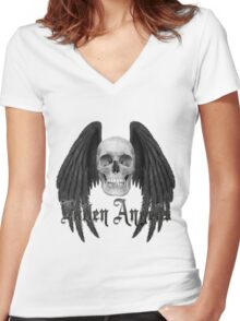 Fallen Angels Women's Fitted V-Neck T-Shirt