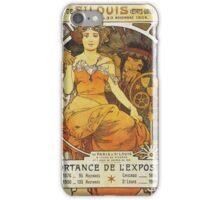 Alphonse Mucha - Exposition Universelle  Internationale De St Louis iPhone Case/Skin