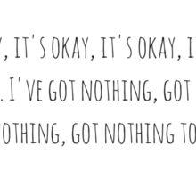 """""""It's Okay"""" from Steven Universe Sticker"""