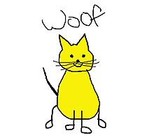 WOOF..THE CAT Photographic Print