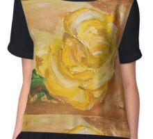 Roses Yellow  Chiffon Top