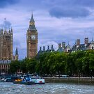 Westminster Palace from the Thames by Yukondick