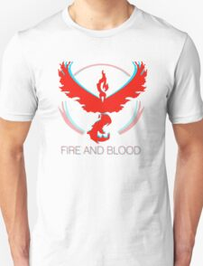 Team Valor - Fire and Blood Unisex T-Shirt