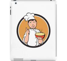 Asian Chef Noodle Bowl Circle Cartoon iPad Case/Skin