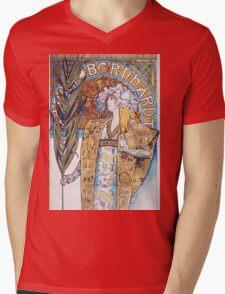 Alphonse Mucha - Gismonda  Mens V-Neck T-Shirt