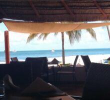 Cabana views Sticker