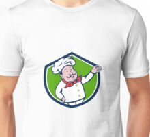 French Chef Welcome Greeting Crest Cartoon Unisex T-Shirt