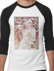 Alphonse Mucha - Hiverwinter Men's Baseball ¾ T-Shirt