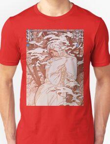 Alphonse Mucha - Hiverwinter Unisex T-Shirt