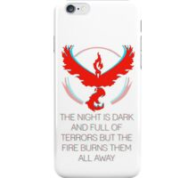 Team Valor - The Night Is Dark iPhone Case/Skin