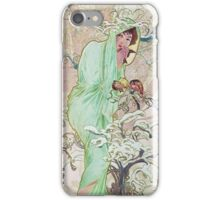 Alphonse Mucha - Hiverwinter 2 iPhone Case/Skin