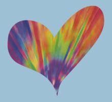 Cool Tie-Dye Heart Kids Tee