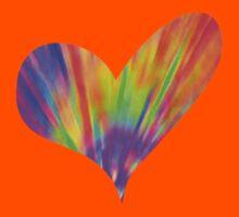 Cool Tie-Dye Heart Kids Clothes