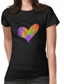 Cool Tie-Dye Heart Womens Fitted T-Shirt
