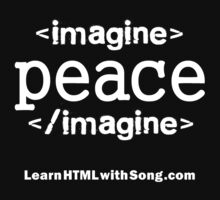 """Imagine Peace"" HTML by htmlsongs"