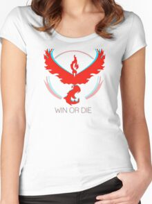 Team Valor - Win or Die Women's Fitted Scoop T-Shirt