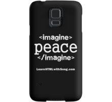"""""""Imagine Peace"""" HTML Samsung Galaxy Case/Skin"""