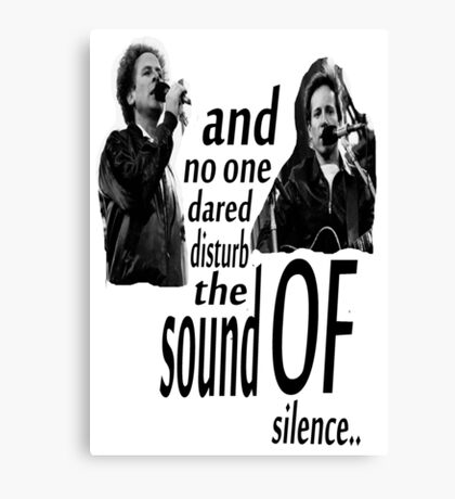 Simon & Garfunkel-The Sound Of Silence Canvas Print