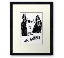 Simon & Garfunkel-Mrs. Robinson Framed Print