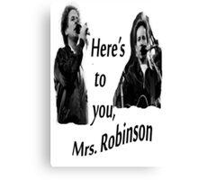 Simon & Garfunkel-Mrs. Robinson Canvas Print