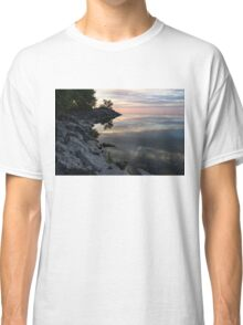 On the Rocks - Silky Colorful Lakeside Morning Classic T-Shirt