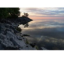 On the Rocks - Silky Colorful Lakeside Morning Photographic Print
