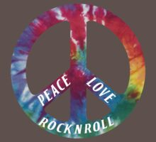 Peace, Love, Rock N' Roll One Piece - Short Sleeve