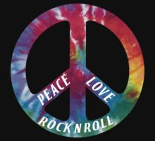 Peace, Love, Rock N' Roll Baby Tee