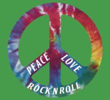Peace, Love, Rock N' Roll One Piece - Short Sleeve