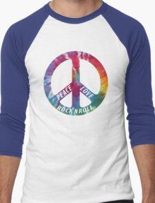 Peace, Love, Rock N' Roll Men's Baseball ¾ T-Shirt