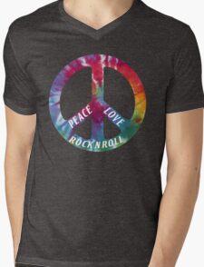 Peace, Love, Rock N' Roll Mens V-Neck T-Shirt