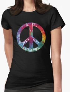 Peace, Love, Rock N' Roll Womens Fitted T-Shirt