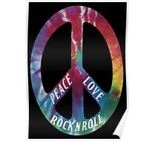 Peace, Love, Rock N' Roll Poster