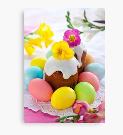 Eggs Easter Color Canvas Print