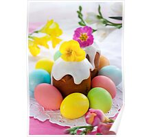 Eggs Easter Color Poster