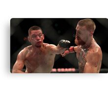 Nate Diaz vs Conor McGregor Poster Canvas Print
