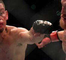 Nate Diaz vs Conor McGregor Poster Sticker