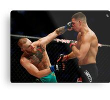 Conor McGregor vs. Nate Diaz UFC 202 Metal Print